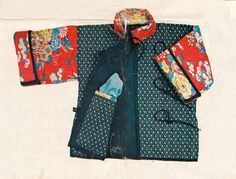 DIY vintage, couture, tricot, loisirs créatifs, années 70:Taille 3/4 ans- Vestes chinoises et Cie