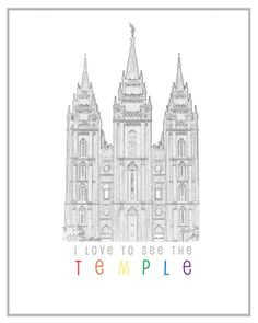 I like this Temple print- it's free and not the typical silhouette of the Salt Lake Temple you can get for free