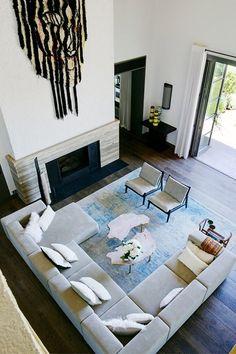 Grey L-shaped Sofa   Living Room Ideas (houseandgarden.co.uk)