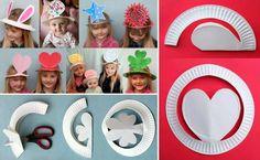 Huodsjes meitsje fan papieren boerd/ Hoedjes maken van een papieren bord