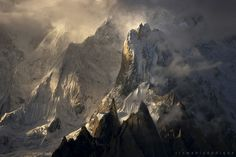 K6 or Baltistan Peak. Masherbrum Mountains Gilgit Baltistan region of Pakistan. Despite being much lower than its sister mountains it has huge steep faces and great relief above the nearby valleys. Photo Ritzwan Siddique [960 x 641]