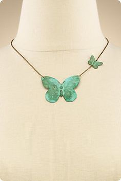 PATINA BUTTERFLY NECKLACE