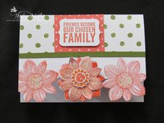 Stampin' Up! Occasions Catalogue. Petal Potpourri, Sentiment from, Painted Petals, Birthday Bash DSP.