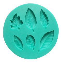 niceeshop(TM) 6 Cavity Leaves Shape Fondant Silicone Cake Molds Decoration Baking Mould,Random Color * You can find out more details at the link of the image.