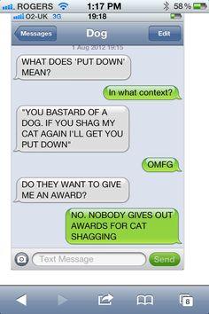 Txt from dog! I love u