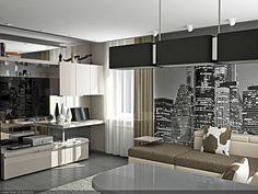 Просмотр фотографии № 4/9 из портфолио «Дизайн однокомнатной квартиры в Донецке»
