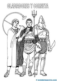 Gladiadores y corneta Ancient Romans, Carpe Diem, Paper Crafts, Costumes, Memes, Design, Free Kids Coloring Pages, Ideas, Everything