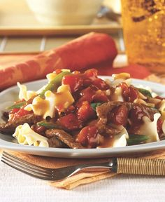 Add a touch of tanginess to your weeknight dinner with this easy and quick Citrus Beef and Noodles recipe!