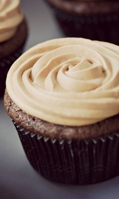 Double Chocolate Cupcakes with Chocolate French Buttercream