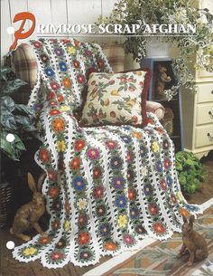Pattern Sheet Only  Primrose Scrap Afghan Annies Crochet Quilt & Afghan Club Published In 1998 - Single Page  Finished Size: 56x75  Yarn: Worsted Weight  Hook: K  Condition: Excellent  Pattern does have slight wrinkling around the center hole. This is only an instruction sheet and not a finished product or supplies to make it.  All Pattern Sales Are Final Ships to United States Only Shipping is via USPS  To see more of my crochet patterns please follow this link: https://www.ets...