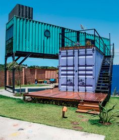 Cooler Tones: Container Homes Container Home Designs, Container Shop, Storage Container Homes, Cargo Container, Building A Container Home, Container Buildings, Container Architecture, Sustainable Architecture, Shipping Container Restaurant