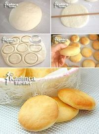 Tiny Bread Recipe for Breakfast - Rezepte Bow Delicious Cake Recipes, Yummy Cakes, Yummy Food, Breakfast Bread Recipes, Breakfast Items, Bread And Pastries, Donut Recipes, Turkish Recipes, Bread Baking