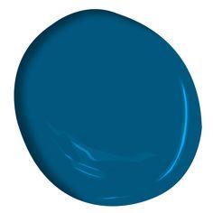 One of over exclusive Benjamin Moore colors. Kitchen Colour Schemes, Blue Color Schemes, Color Azul, Kitchen Colors, Kitchen Ideas, Blue Paint Colors, Paint Colors For Home, Wall Colors, House Colors