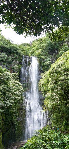 Hawaiian Waterfall, Maui, Hawaii