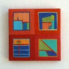 "Square #81, 5"" x 5"" x 1/2"" (sold)"