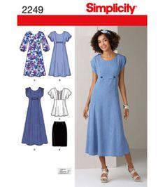 Simplicity Pattern 2249-Misses Dresses-20W-28W, , hi-res