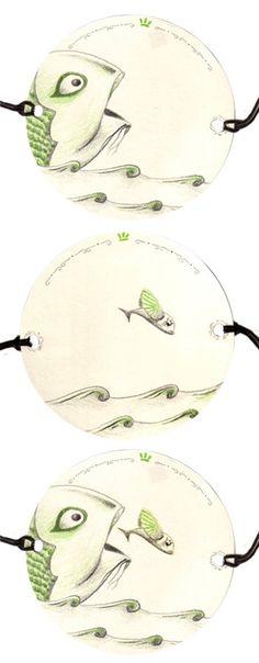 Thaumatrope paper optical toy illusion - original illustration - OOAK - One…
