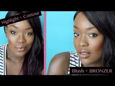 BEST Highlight Contour & Blush Tips for Dark Skin