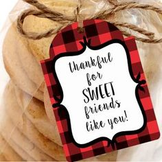 Printable Thankful for SWEET Friends Gift Tags Printable Gift   Etsy