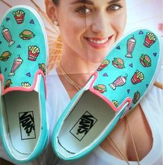 custom Calvin fast food kimono Shoes Slip-on Painted Canvas Shoe #painted #shoes www.loveitsomuch.com
