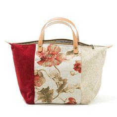 Handbag Bali Mala de mão em chenille Linho by AWAYOFLIFEhandmade