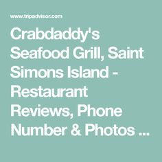 Crabdaddy's Seafood Grill, Saint Simons Island - Restaurant Reviews, Phone Number & Photos - TripAdvisor