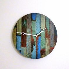 Rustic Chic Wall Clock Home Decor Decor and by Shannybeebo on Etsy, $50.00