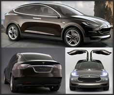 "Tesla Model X Tesla's all-electric, AWD SUV seats seven, has a striking industrial design with ""falcon-wing"" doors, and can zip from 0-to-60 in just 4.2 seconds. Out in 2014."