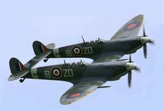 Two Spitfires that looks like one.