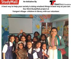 Children at third digital StudyMall project Vangani village with our volunteer.Join us to do your bit for society.
