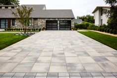 Driveways and landscape inspiration.  Rustic front yard designs and ideas.