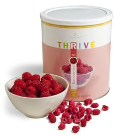 THRIVE Freeze Dried Raspberries represent the best that this tart, delectable fruit has to offer. Rather than waiting all year for raspberries to finally be in season, you can have them on-hand any time a craving strikes. Add them to your hot cereal, sack
