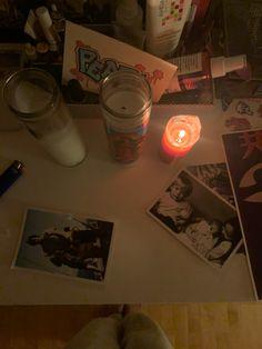Room Ideas Bedroom, Bedroom Inspo, Bedroom Decor, Mason Jar Lamp, Candle Jars, Candles, Aquarius Season, Grunge Room, Maybe One Day