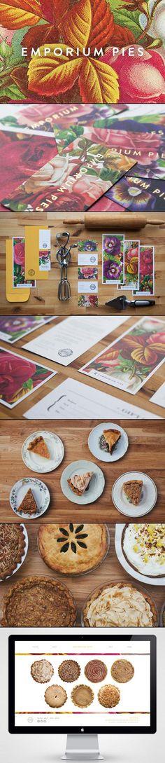/ emporium pies. LOVE this branding