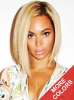 Full Lace Wigs & Lace Front Wigs | RPGSHOW - Bold & Sexy Hair Stock Beyonce Blonde BOB Human Hair Full Lace Wig - SC011S-s [SC011S] - WARNING! Head turner! This blonde slightly asymmetrical bob is not for the faint at heart! Stand out with bright blonde hues and naturally brown roots. This is perfect for the confident girl that does not take no for an answer! This look is also available in any other hue we