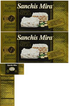 Seasonal Candy 38177: Sanchis Mira Turron De Alicante 200 Grs. (7Oz.) Pack Of 2 -> BUY IT NOW ONLY: $34.95 on eBay!