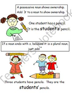 Possessive Nouns Pack from Third Grade Etc on TeachersNotebook.com -  (25 pages)
