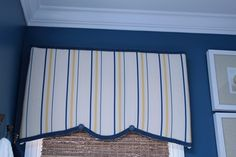 Brilliant tip! Check out this tutorial on how to create cornice boards using foam board, duct tape, batting and fabric. @Southern Hospitality Rhoda