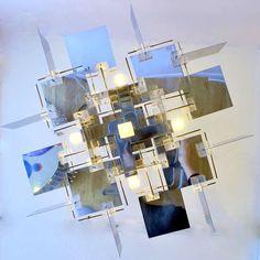 Mirrored Sciolari Chandelier