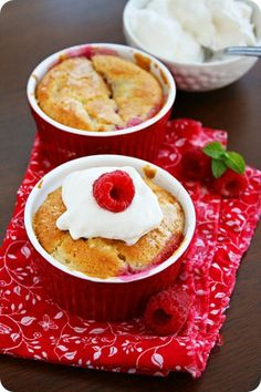 Raspberry Cobbler:  I used a slightly different recipe and loved it...Next time I may follow this recipe exactly.