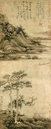 Wu Zhen, Hermit Fisherman on Lake Dongting.