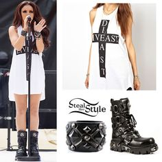 http://stealherstyle.net/2013/07/21/jesy-nelson-live-east-die-east-tank-black-boots/  #Perfection