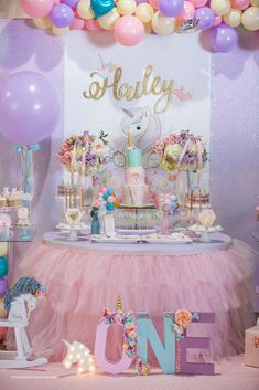 Sparkly Unicorn Birthday Party Ideas | Photo 1 of 114