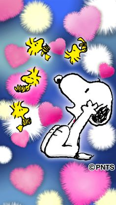Snoopy and Woodstock, スヌーピーとウッドストック Snoopy Images, Snoopy Pictures, Cute Pictures, Cellphone Wallpaper, Iphone Wallpaper, Cute Wallpapers, Wallpaper Backgrounds, Snoopy Wallpaper, Cartoon Wall