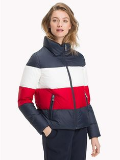 65fd56e4a8d2 TOMMY HILFIGER Короткий пуховик - MIDNIGHT  APPLE RED  SNOW WHITE - TOMMY  HILFIGER Sustainable. Outerwear ...