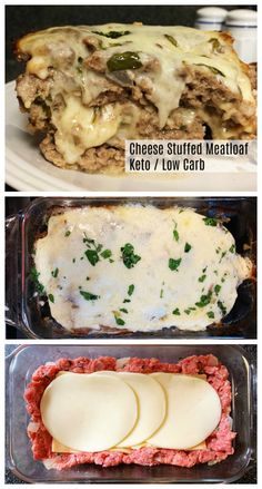 Stuffed meatloaf is the comfort food you crave. Keto and Low Carb, it's tasty an… Stuffed meatloaf is the comfort food you crave. Keto and Low Carb, it's tasty and filling and makes the best leftovers. Great to meal prep! Keto Meal Plan, Diet Meal Plans, Meal Prep Low Carb, Cheese Stuffed Meatloaf, Stuffed Meatloaf Recipes, Keto Stuffed Peppers, Stuffed Food Recipes, Comida Keto, Ketogenic Recipes