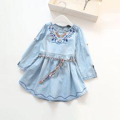 $29.00 (Buy here: https://alitems.com/g/1e8d114494ebda23ff8b16525dc3e8/?i=5&ulp=https%3A%2F%2Fwww.aliexpress.com%2Fitem%2FGirls-Denim-Dresses-Cotton-Jean-Embroidery-Dress-with-Belt-Foldable-Sleeve-For-Baby-Children-2-9%2F32613604606.html ) Girls Denim Dresses Cotton Jean Embroidery Dress with Belt Foldable Sleeve For Baby Children 2-9 Yrs for just $29.00