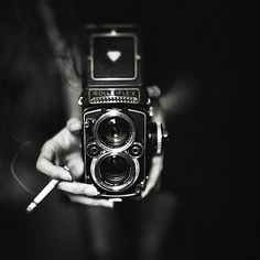 cool black and white retro camera shot #photography