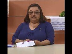 Toalha de Lavabo em Ponto Reto com Falso Crivo com Leila Jacob | Vitrine do Artesanato na TV - YouTube