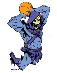Skeletor Cartoon Villains Catch Air in Art Series by Andy MacDonald Best 90s Cartoons, Classic Cartoons, Watch Cartoons, Andy Macdonald, Sports Illustrated Kids, Saturday Morning Cartoons, Fun Illustration, Comic Illustrations, Art Series